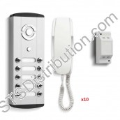 BL10 Bell - 10 Button Bellini Surface Audio Entry Kit
