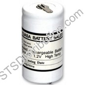 1DH4-0T Yuasa Single Cell Ni-Cd Battery, 1.2V, 4Ah (With Solder Tags only)