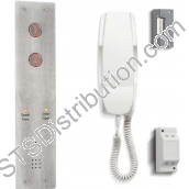 DDA2/VR Bell 2 Buttons DDA Door Entry Kit With Flush Mount Panel