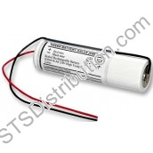 2DH4-0L4 Yuasa 2 Cell Stick Ni-Cd Battery, 2.4V, 4Ah with Leads