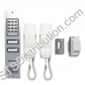 CS106-2F BELL - 02 button flush audio entry kit, Ali panel, + keypad