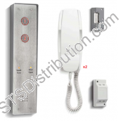 DDA2/VRS Bell 2 Station DDA Surface Door Entry Kit with Surface Panel