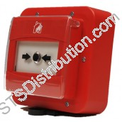 308-038 SyCALL Manual Call Point, Resettable, Red, Weatherproof CWC