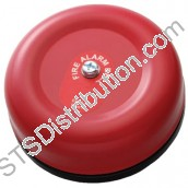 "309-024 Cranford Controls 24V DC 6"" Fire Alarm Bell, Red VBL-24AP"