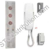 DDA3/VR Bell Three Call Button Complete DDA Door Entry Kit