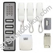 CS109-3 BELL 03 Button Audio Door Entry Kit With Surface Mount Keypad Panel