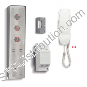 DDA3/VRS Bell 3 Button DDA Vandal Resistant Door Entry Kit