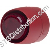 511-095L VTB Spatial Sounder Beacon, Red Body, Red Lens, Shallow Base VTB-32E-SB-RB/RL