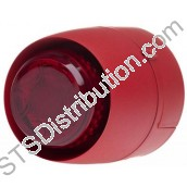 VTB Spatial Sounder Beacon, Red Body, Red Lens, Deep Base VTB-32E-SB-RB/RL