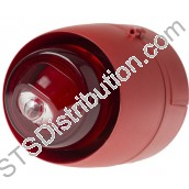 512-001 VXB LED Beacon, Red Body, Red Lens, Shallow Base VXB-SB-RB/RL