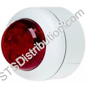 512-004 VXB LED Beacon, White Body, Red Lens, Deep Base VXB-DB-WB/RL