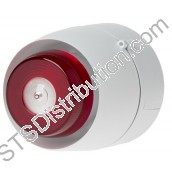 512-204 Vantage C-3-8 Ceiling VAD, White, Red Flash, Deep Base