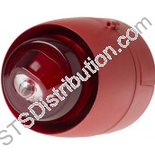 512-307 Vantage W-2.4-8 Wall VAD, Red, White Flash, Shallow Base
