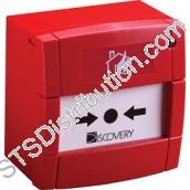 58100-908APO Discovery Manual Call Point with Isolator, Red, Surface - KAC Style