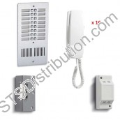 916 Bell System - 16 Way Audio Intercom Kit with Flush Panel