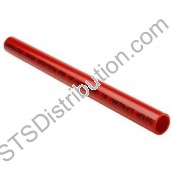 ABS008-25 Air Sampling Pipe, 25mm, Red, 3m