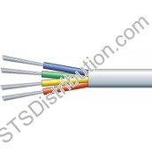 ALARM4C 4 Core TCCA Alarm Cable, 100m, White - Type 3