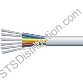ALARM6C 6 Core TCCA Alarm Cable, 100m, White - Type 3