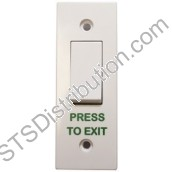 AN-EB005-PTE Press to Exit Switch, Plastic, Single Architrave