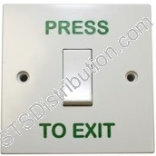 AN-EB006-PTE Press to Exit Switch, Plastic, Single Gang