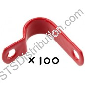 AP7R Prysmian AP7 Fireproof P-Clips, 7mm, Red (Box of 100)