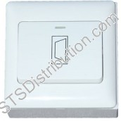 BP-DOOR-F CDVI Standard Wide Exit Button, Plastic, Flush