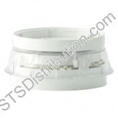 BSS-PC-I00 System Sensor Integrated Base Sounder Strobe with Clear Lens c/w Isolator, White