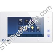 "CDV47-W 2Easy 7"" Digital Touchscreen LCD Monitor, White"