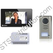 CDV4791-B 2Easy 1-Way Video Door Entry Kit, Black Touchscreen Monitor