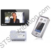 2Easy 1-Way Video Door Entry Kit with Keypad, Black Touchscreen Monitor
