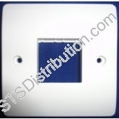 CMA402 Mode White Grid Switch Front Plate 1 Gang, Twin Aperture