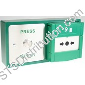 DBB-22-02 CDVI Stainless Steel Exit Button & Emergency Door Release (Resettable) Combination