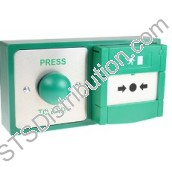 DBB-22-04 CDVI Stainless Steel Domed Exit Button & Emergency Door Release (Resettable) Combination