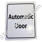 "DWS-ADSIGN ""AUTOMATIC DOOR"" Sign, Self-Adhesive"