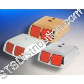 ELM-PA-G3-W Elmdene Double Push PA Button, Multi Resistors, White (Grade 3)