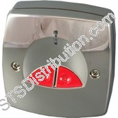 EPA-NG/STD/SS/G3 CQR NG STD Electronic PA Button, Keyless Reset, Stainless Steel (Grade 3)
