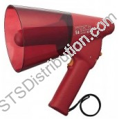 ER-1206S TOA - Handheld Megaphone, 6W, IPX5, with Siren, Red, Range 250m/315m