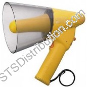 ER-1206W TOA - Handheld Megaphone, 6W, IPX5, with Whistle, Yellow, Range 250m/315m
