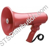 ER-1215S TOA - Handheld Megaphone, 15W, with Siren, Red, Range 315m/500m