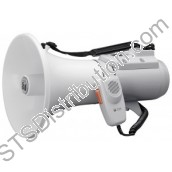 ER-2215W TOA - Shoulder Megaphone, 15W, Grey, with Whistle, Range 400m/500m