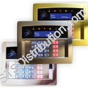 EUR-067C Castle LCD Prox RKP, 2 Zones & 1 Output, Flush - Chrome (Grade 3)