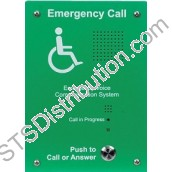 EVC302F Sigtel Handsfree EVC Outstation, Green, Stainless Steel, Flush