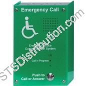 EVC302S Sigtel Handsfree EVC Outstation, Green, Stainless Steel, Surface