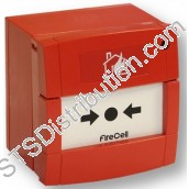 FireCell Wireless Red Manual Call Point includes Radio Base & Batteries