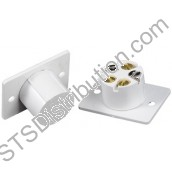 FC505/WH CQR 5 Terminal Contact, Flush, White (Grade 1)