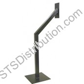 GNP-1C CDVI Car Height Post, Powder Coated Black, 50 x 50 x 1000mm