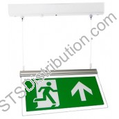 HTLEDSM 3W Suspended (Hanging) Maintained Emergency Exit Sign, Surface c/w Arrow Up Legend