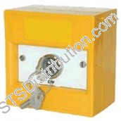 K20SYS-01 KAC 2-Position Keyswitch, Key Removable, Yellow, NO FUNCTION MARKING