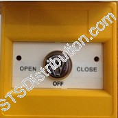 K30SYS-01 KAC 3-Position Keyswitch, Key Removable, Yellow, NO FUNCTION MARKING