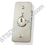 KEY-AFMAKA CDVI Narrow Keyswitch, Maintained, Keyed Alike, Flush